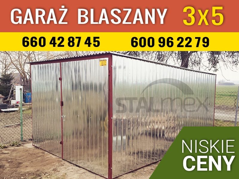 Niesamowite Garaże blaszane , garaż, domki ogrodowe, bramy garażowe,Opole YR51